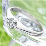 PT900/0.3ct プラチナ&ダイヤモンドパサバリング