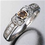 K18WG ホワイトゴールド ダイヤツーカラーリング ・ダイヤ指輪