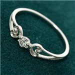 K18WG/0.08ct アンティークダイヤモンドリング ・ダイヤ指輪