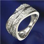 SIL925/0.6ct ダイヤモンド ワイドパヴェリング