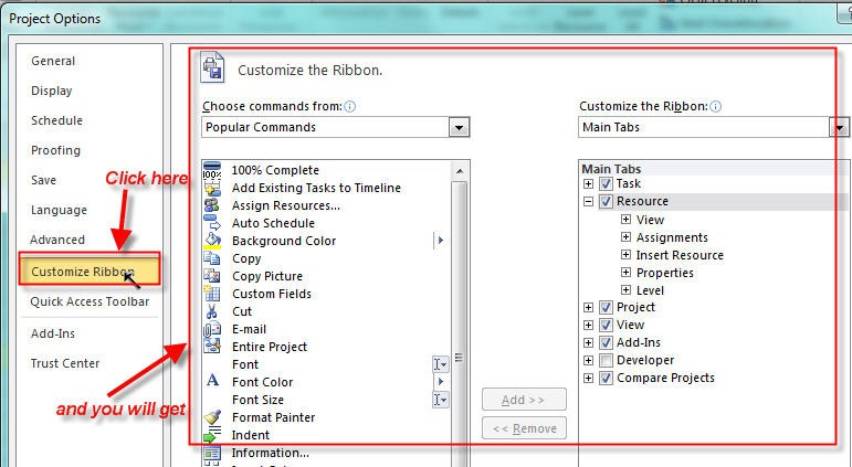 Customizing the Ribbon in MS PROJECT 2010\u2013Part II Nenad Trajkovski