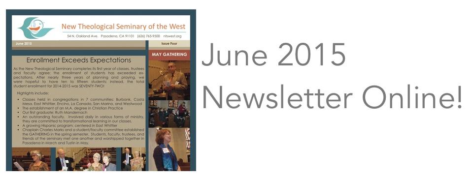 June 2015 Newsletter Online