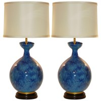 HUGE Vintage Italian Ceramic Table Lamps by The Marbro ...