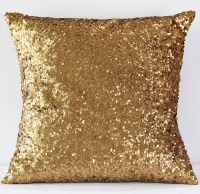 Dark Gold Sequin Taffeta Pillow - Nage Designs