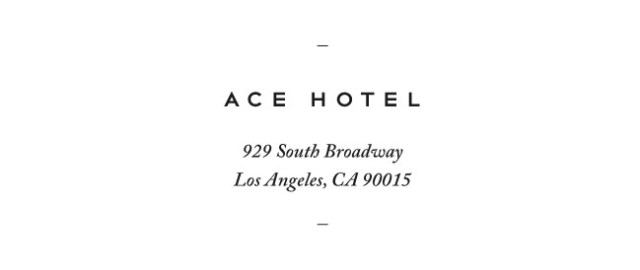 Nubby Twiglet | Ace Hotel Downtown Los Angeles