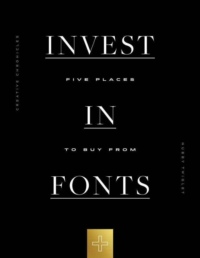 Nubby Twiglet | Creative Chronicles #12: Five Places to Buy Fonts
