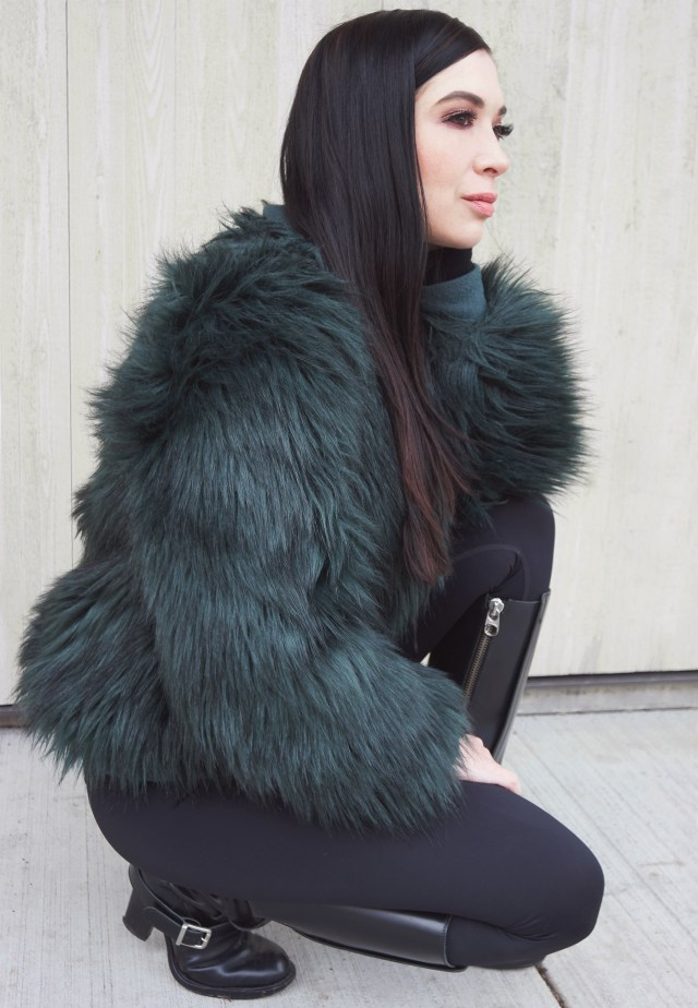 Nubby Twiglet | What I Wore: Spruce Faux Fur