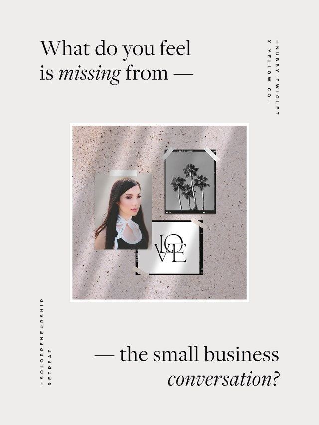 Nubby Twiglet | What's Missing from the Small Business Conversation?