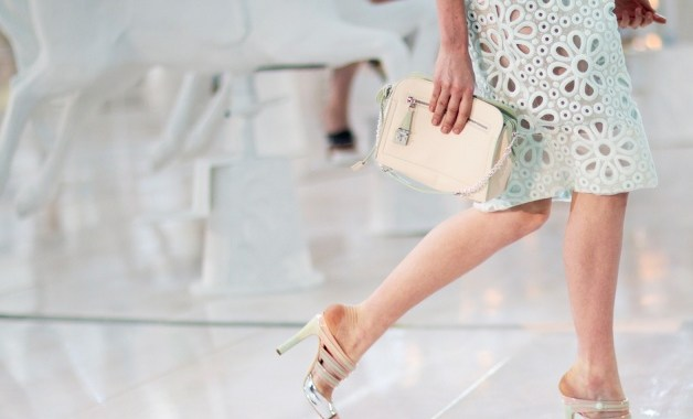 Louis Vuitton Spring 2012 Runway showed pastel sandal heels with pastel hued looks