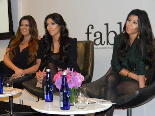 The Kardashian sisters speak at last year's Lucky FABB conference in NYC