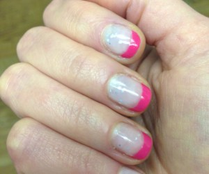 Summer French Manicure With Different Color Tips
