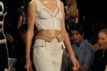Contouring with Herve Leger Zippers At New York Fashion Week Spring 2014