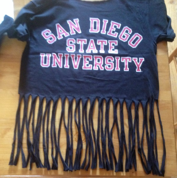 T shirt diy how to make a fringe tassel tee for How to create a t shirt