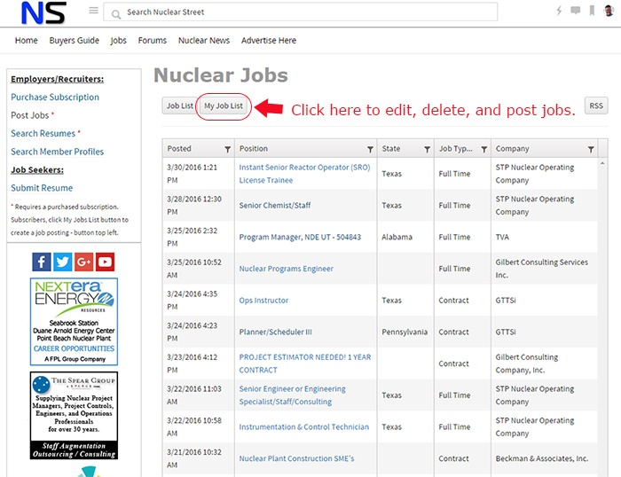 Post a New Job Listing - Nuclear Street Support - Support - Nuclear