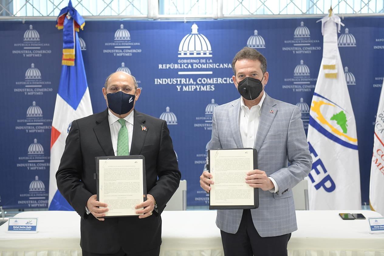 MICM e INFOTEP firman convenio para ejecutar programa de formación en beneficio del sector industrial