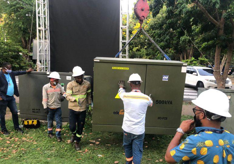 Edesur dona e instala transformador para Palacio de Voleibol del Centro Olímpico Juan Pablo Duarte