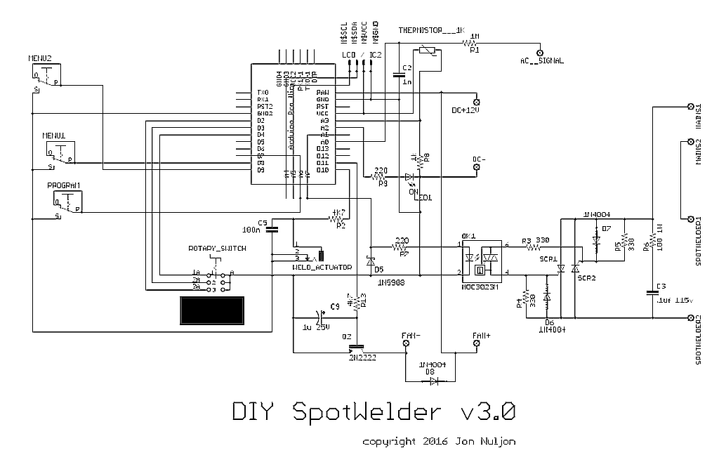 circuit the thermistor voltage divider and the led