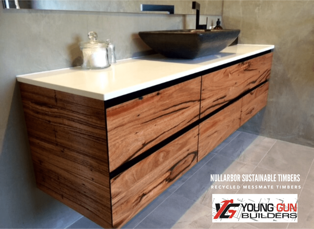 Recycled Timber Vanity Melbourne Timber Tables I Benchtops I Recycled Timber I Cladding I
