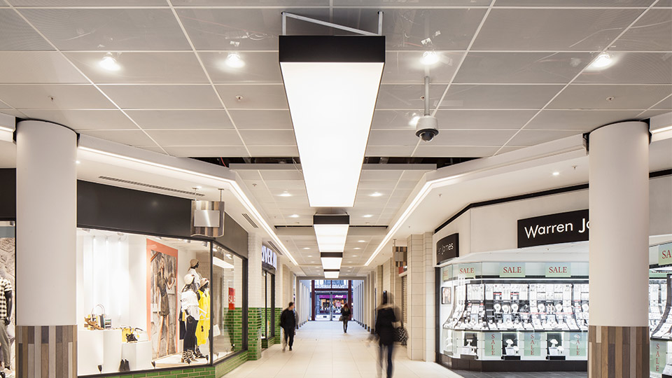 Y Lighting Sailmakers Shopping Centre | Nulty | Lighting Design