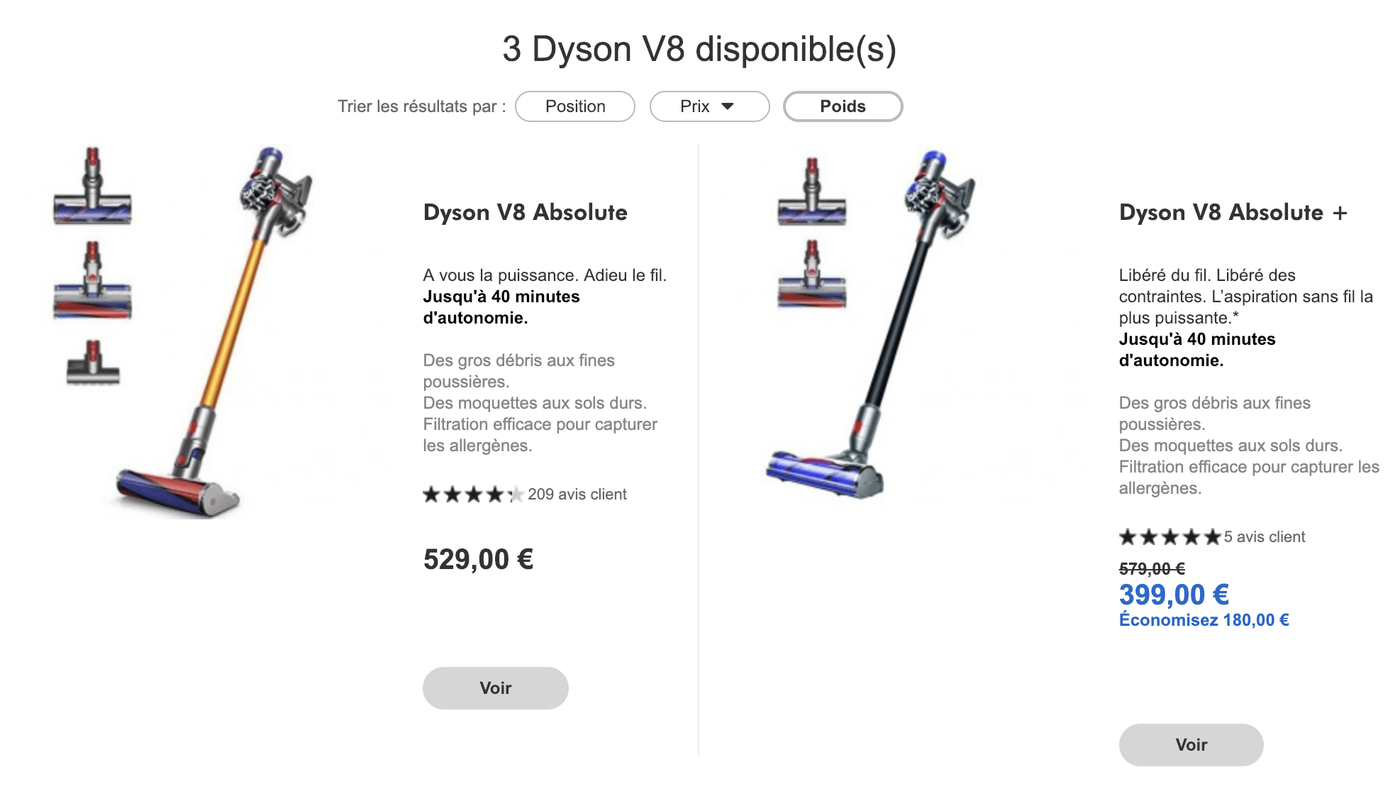 Aspirateur Dyson V8 Absolute V7 Fluffy V8 Absolute V10 Total Clean Comment Bien Choisir