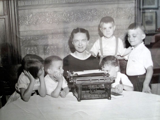 Marie Ponsot with Five of Her Seven Children