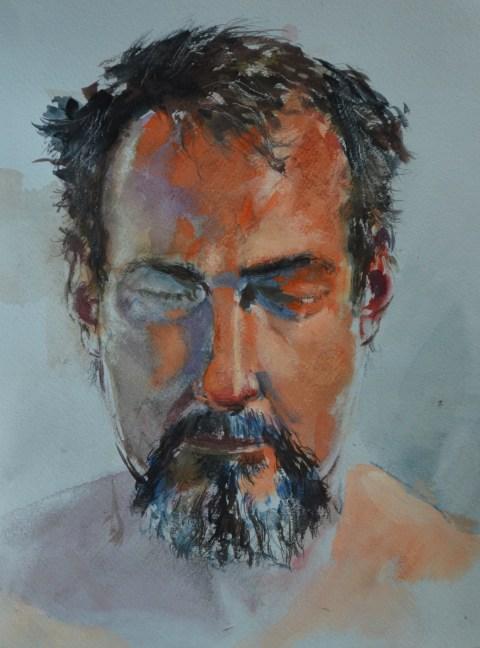Self-portrait-gouache12x9