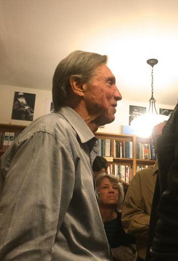 Leonard Gardner (left) at City Lights Books. Photo Courtesy PFLA Newswire. (2)