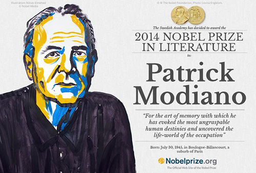 Patrick Modiano Nobel announcement 2014