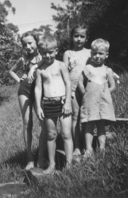 4. With Uncle Henry's boys at The Knoll c.1950