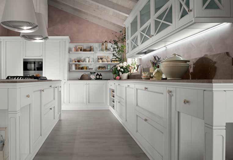 Cucina Classica Laccata Bianca