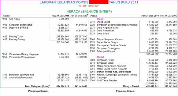Laporan Keuangan Koperasi | Nurendrayani