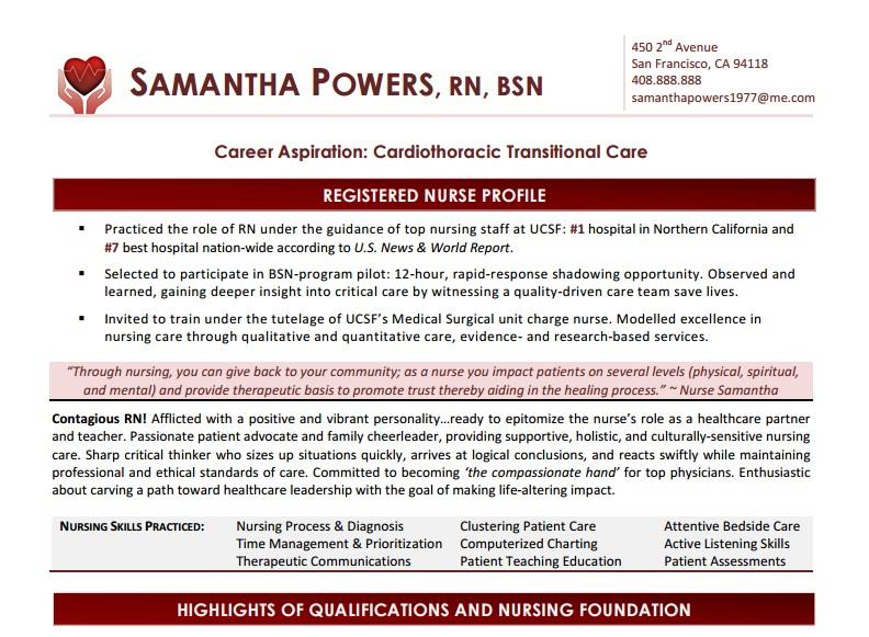 Nursing Resume Template - local resume services
