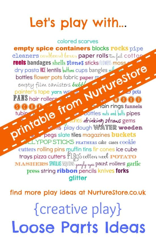 Free play with loose parts  what, why, how - NurtureStore