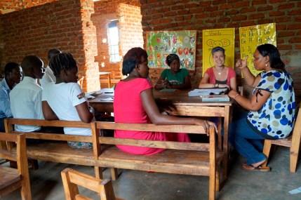 Jeanine bei der LehrerInnen-Fortbildung