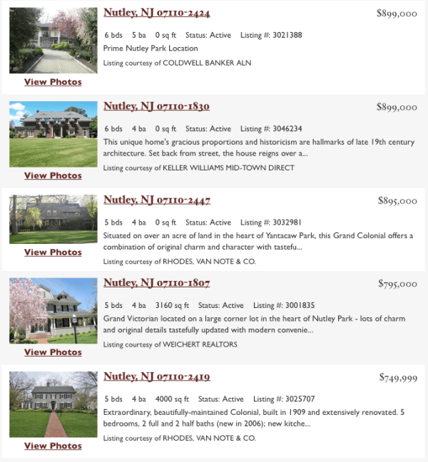 The Most Expensive Homes in Nutley