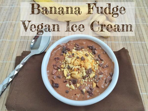 Banana Fudge Vegan Ice Cream