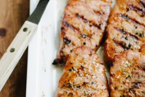 Orange Glazed Maple Pork Chops