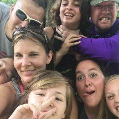 It was a 2 family adventure at Chalk Ridge Falls