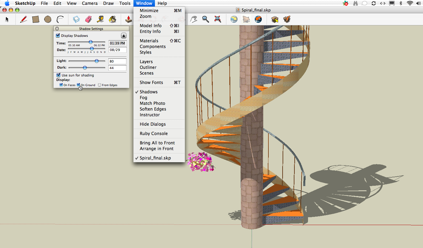 Staircase Options Spiral Staircase In Googlesketchup Shadow Options The