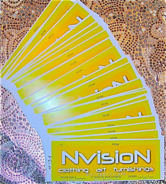 Gift certificates for NVISION merchandise \u2013 NVISION Cincinnati