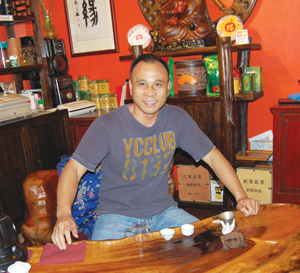 New Century Tea Gallery owner Dafe Chen