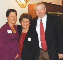 Mayoral candidate Mike McGinn (right) with his wife, Peggy Lynch, and his mother-in-law, Reiko Lynch (Photo by George Liu/NWAW)