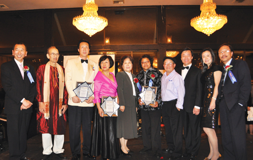 Ten musicians were awarded the distinction of being Northwest Asian Weekly Foundation's 2009 Asian American Pioneers in Music. Many of the pioneers came together on Oct. 16 to perform together across ethnic lines. (Photo by George Liu/NWAW)
