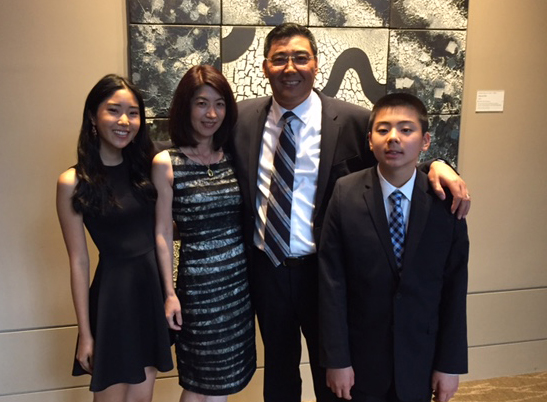 Zhang family. From left: Meili, Hisae Kageyama, Ben, and Joseph (Photo provided by Ben Zhang)