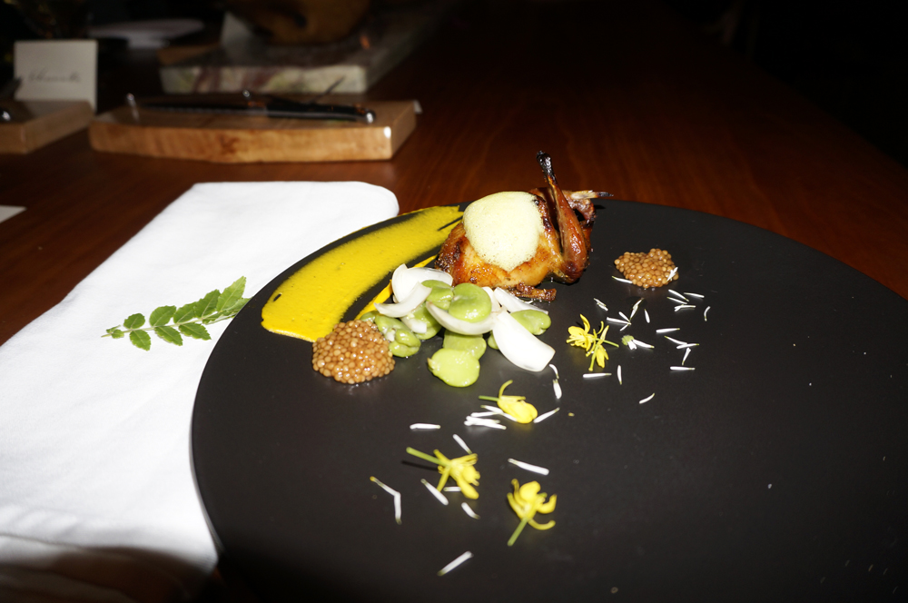 Quail, day lily bulb, fava beans and vadouvan. (Photo by George Liu/NWAW)