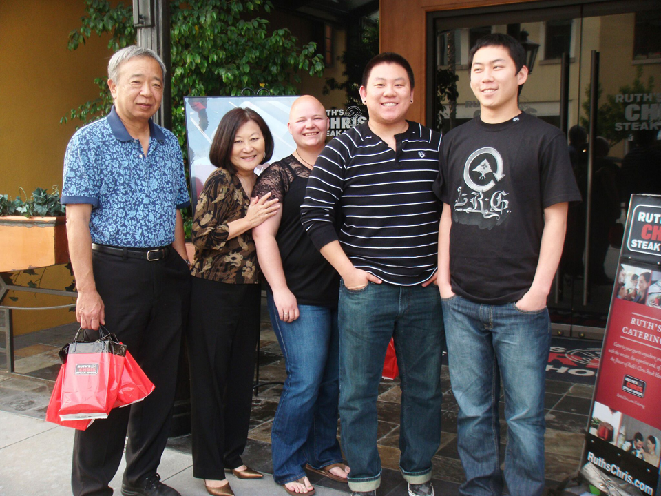The Azumi family. From left: Tad, Marsha, Mary (Aiden's wife), Aiden and Stefen.  (Photo provided by NQAPIA)
