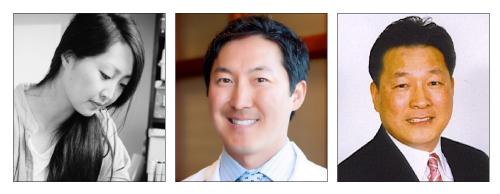 From left: Sara Zin, Dr. Jeffrey Roh, and Rick Kong