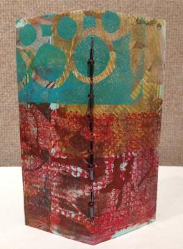 """Exterior, """"Gelli Book"""" by Kathy Dietrich"""