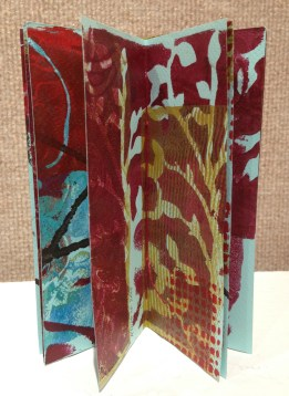 "Interior, ""Gelli Book"" by Kathy Dietrich"