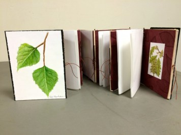 """Tree Collection"" Concertina, Painted Cover, double-sided"